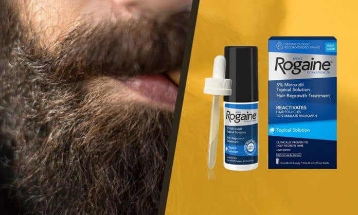 rogaine for facial hair growth