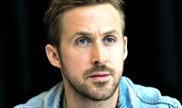 example of a good patchy beard style by Ryan Gosling