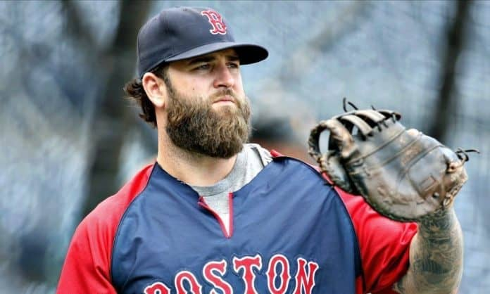 MLB baseball player with a thick beard