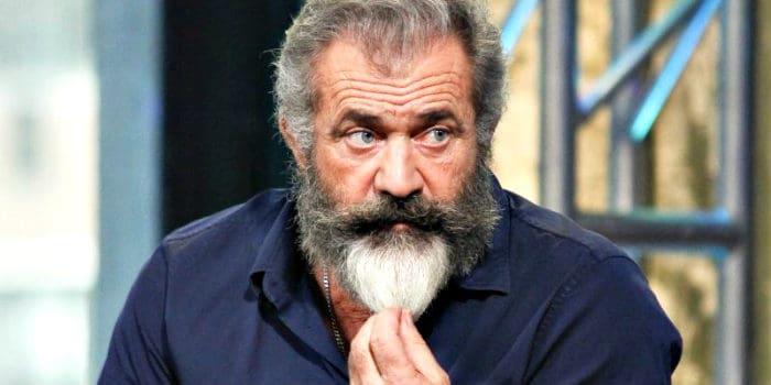Mel Gibson stroking his big bushy beard