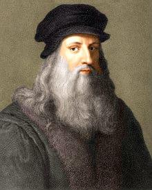 the great big beard of leonardo da vinci in old painting