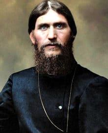 Grigori Rasputin with a full beard in old photograph