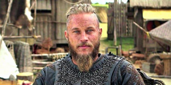 travis fimmel in Vikings set with a nice blonde beard