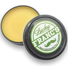 opened tin of unscented hold wax