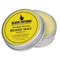 opened tin of seven potions wax