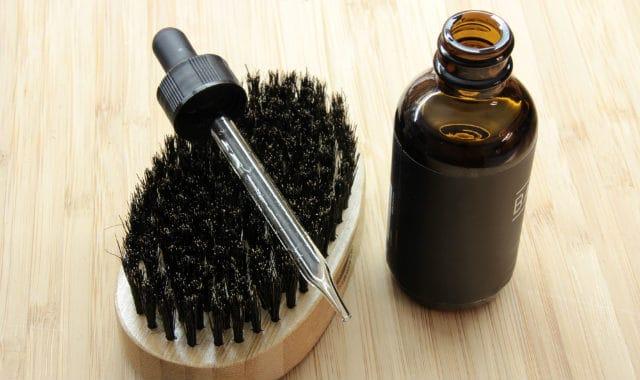 beard oil and dropper cap
