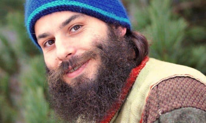 curly beard man