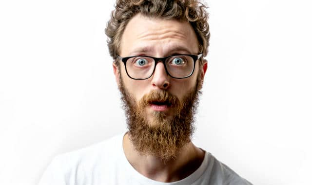 man with coarse and rough beard