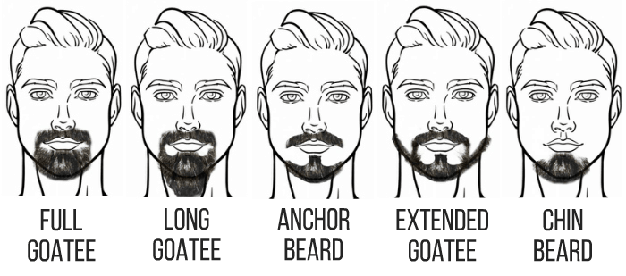 beard resource goatee styles illustrations