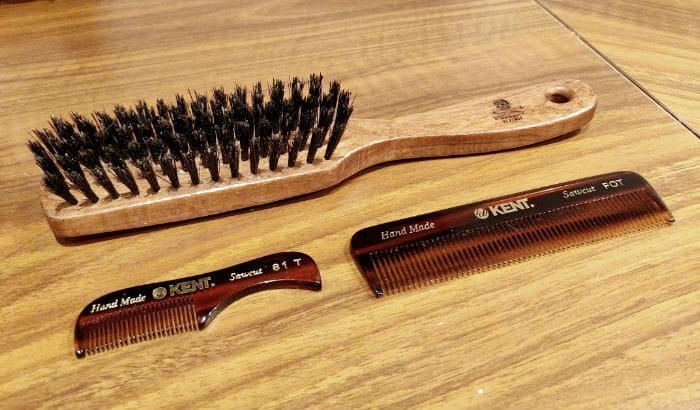 beard brush and combs
