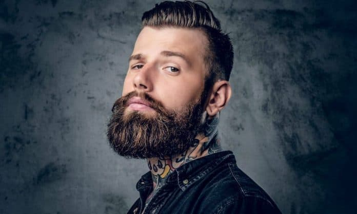 man with thick full healthy beard