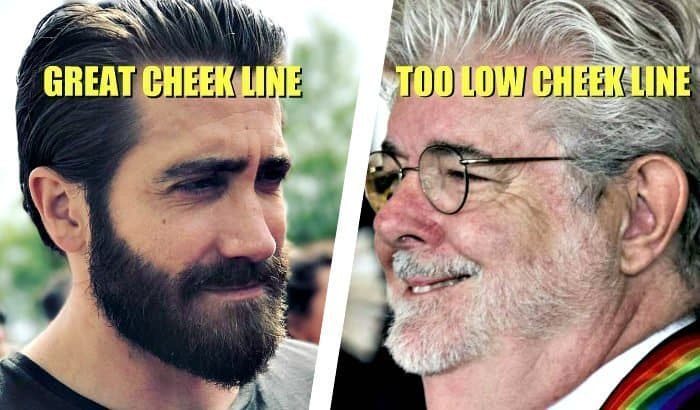 line up beard cheek line