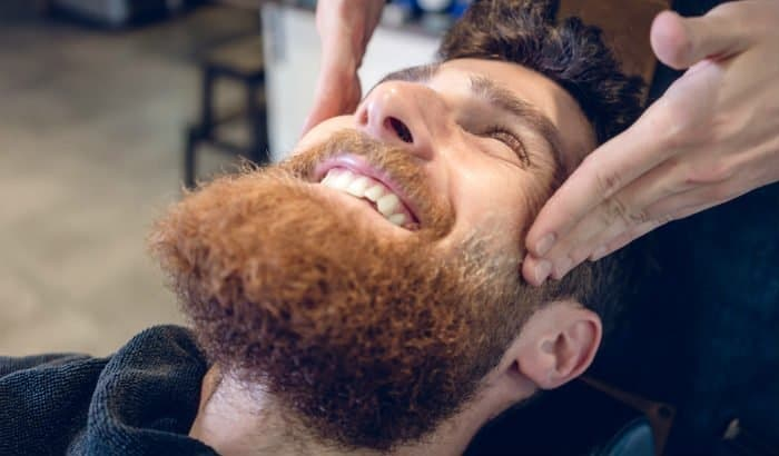 cleaning beard