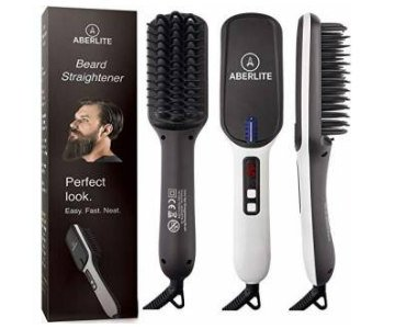 aberlite heated beard straightening brush