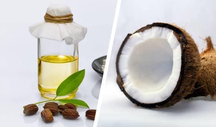 jojoba oil and coconut two panel