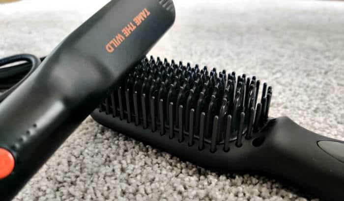 small vs big beard straightener brush