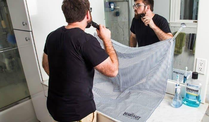 beard trimming mat