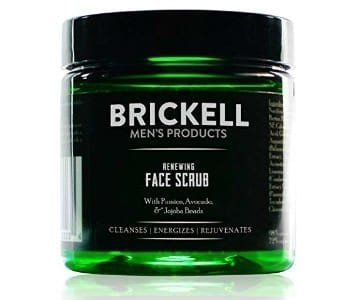 brickell mens exfoliating beard scrub