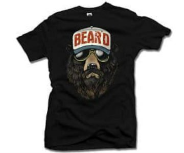 cool beard t shirt