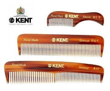 kent 3-piece beard comb set