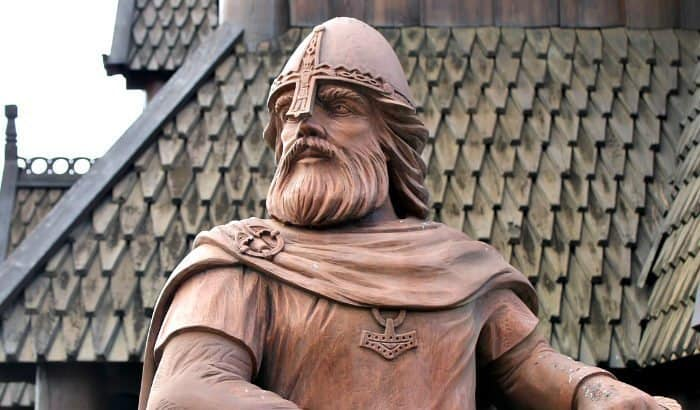 statue with a viking beard