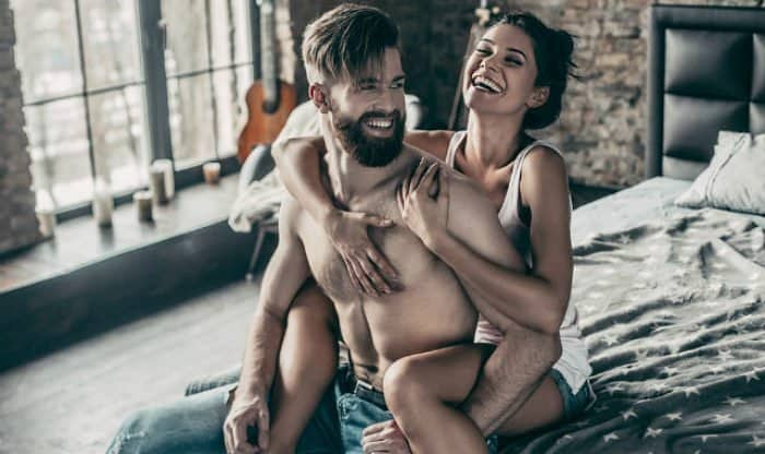 bearded man and a woman