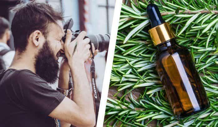 big beard and beard oil bottle
