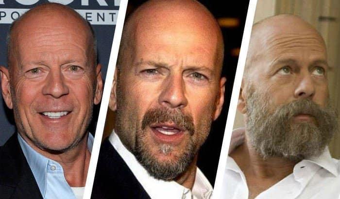 bruce willis beard vs no beard