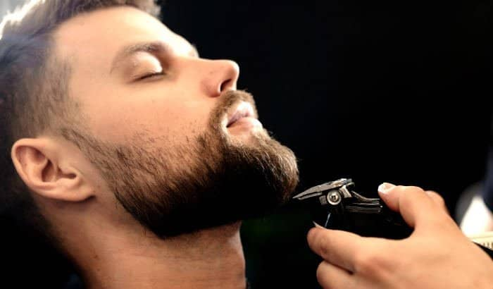 evenly trimming a sparse beard