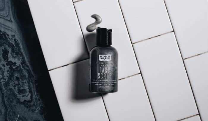 face and beard scrubbing lotion