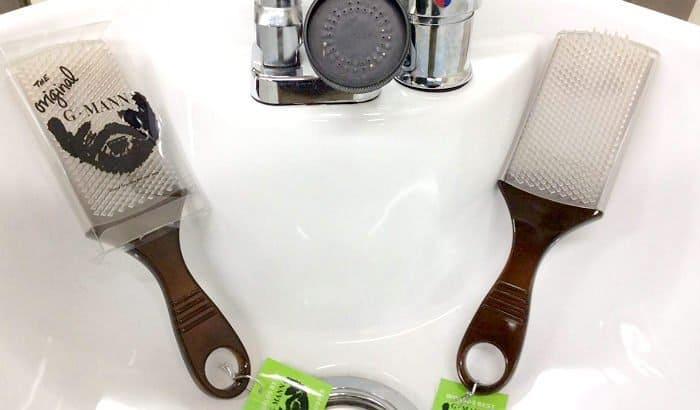 g mann original shower beard scrubber