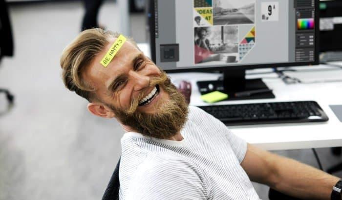 verdi beard in the office