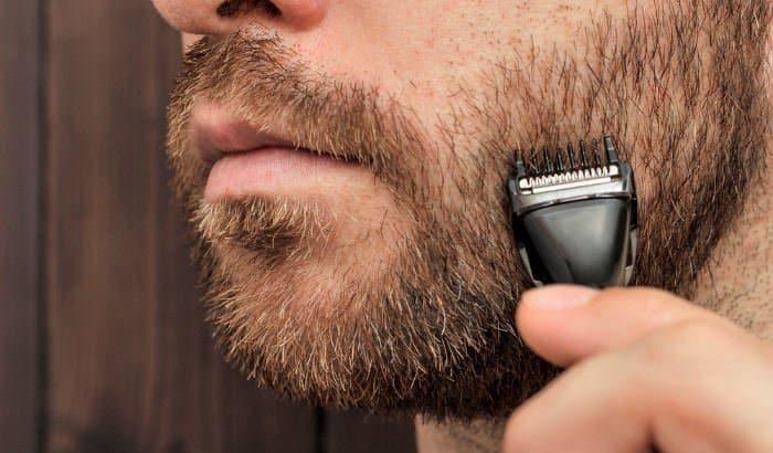 trimming a short beard