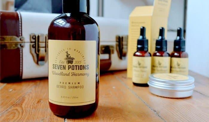 seven potions woodland harmony beard shampoo