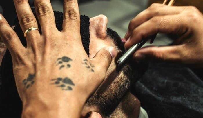 hollywoodian beard shave