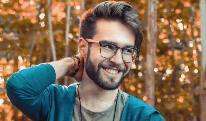 teen with beard