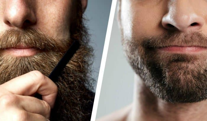 when to start using beard oil two panel comparison