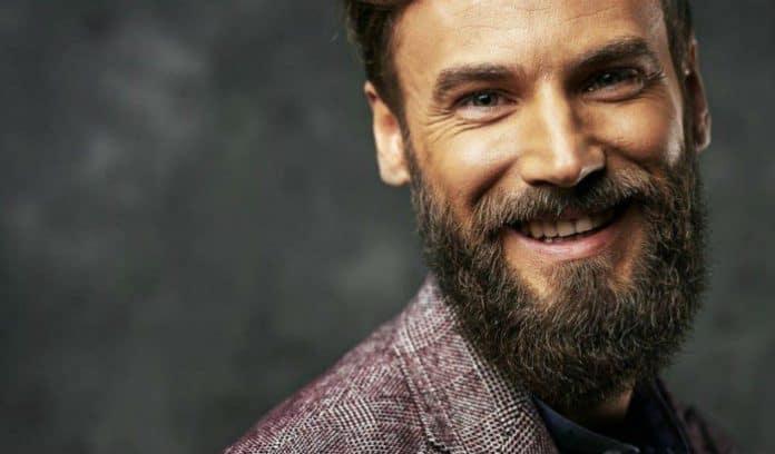 man with fast growing beard