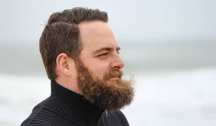beard in wind