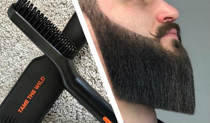 beard straightened too much