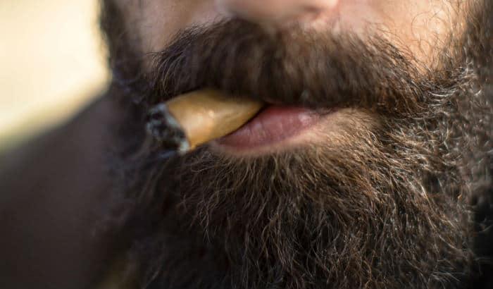 example of beard growing under the bottom lip
