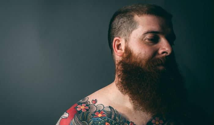 man with big bushy beard