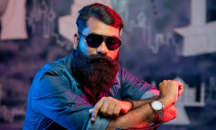man with full beard under lip