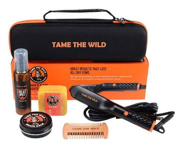 tames beard straightener kit