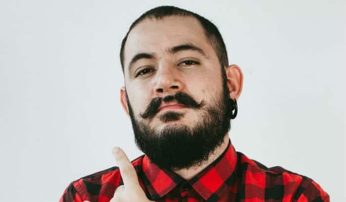 verdi beard with a gap