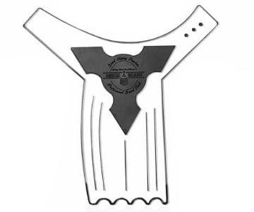anti slip beard shaping tool