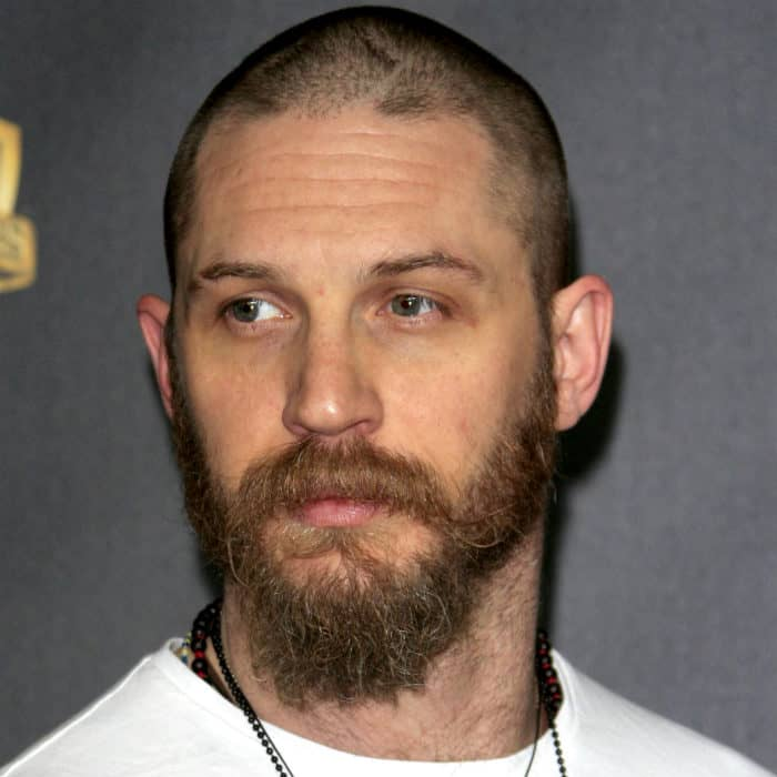buzz cut with scraggly beard
