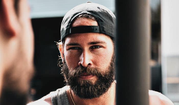 classic full beard on round face