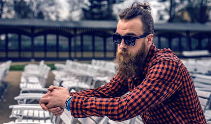 man with a long bushy beard