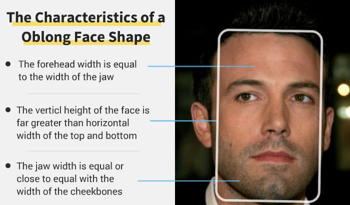 oblong face shape features